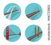 bridge vector set. different... | Shutterstock .eps vector #446725801