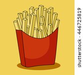 fast food vector icon.french... | Shutterstock .eps vector #446725819