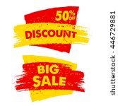 50 percent off discount and big ... | Shutterstock . vector #446729881