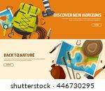 travel tourism vector... | Shutterstock .eps vector #446730295