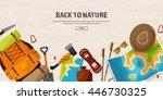 travel tourism vector... | Shutterstock .eps vector #446730325