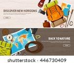 travel tourism vector... | Shutterstock .eps vector #446730409