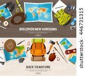 travel tourism vector... | Shutterstock .eps vector #446731315