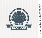 monochrome seafood icon with... | Shutterstock .eps vector #446733325