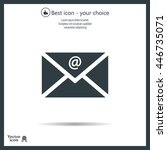 mail icon. vector | Shutterstock .eps vector #446735071