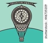 air baloon. vector illustration ... | Shutterstock .eps vector #446735209