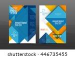 square and triangle design.... | Shutterstock .eps vector #446735455