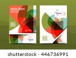 geometric mosaic design  a4... | Shutterstock .eps vector #446736991