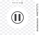 pause button vector icon | Shutterstock .eps vector #446737171