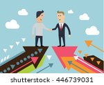 cooperation businessman and... | Shutterstock .eps vector #446739031