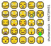 set of emotions set of emoji...   Shutterstock .eps vector #446739451