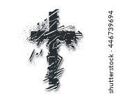 vector christian cross symbol.... | Shutterstock .eps vector #446739694