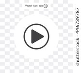 play button web icon  flat... | Shutterstock .eps vector #446739787