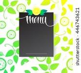 design element for a menu of...   Shutterstock .eps vector #446743621