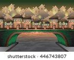 cartoon vector city sky with...   Shutterstock .eps vector #446743807