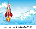 cartoon vector space sky with...