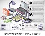 illustration of infographic... | Shutterstock .eps vector #446744041