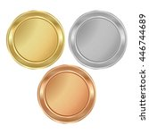 vector round medal with empty... | Shutterstock .eps vector #446744689