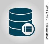 vector illustration of database ... | Shutterstock .eps vector #446751634