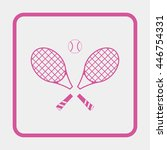 tennis rackets with ball icon. | Shutterstock .eps vector #446754331
