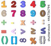 fun numbers and mathematical... | Shutterstock .eps vector #446756794