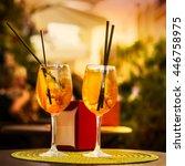 aperol spritz cocktail.... | Shutterstock . vector #446758975