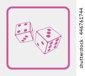 illustration of dices.   Shutterstock .eps vector #446761744