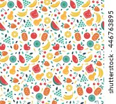 vector seamless pattern with... | Shutterstock .eps vector #446763895