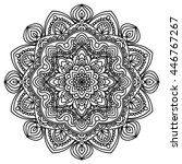ornamental mandala circular... | Shutterstock .eps vector #446767267