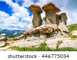 Bucegi, Carpathian Mountains, Romania. Babele - geomorphologic erosion rocky structures.