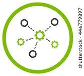 service relations glyph bicolor ... | Shutterstock . vector #446779897