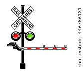 Rail Crossing Signal Icon In...