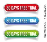 30 days free trial button... | Shutterstock .eps vector #446786701