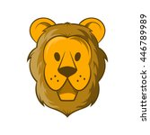 head of lion icon in cartoon... | Shutterstock . vector #446789989