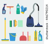 household supplies and cleaning ... | Shutterstock .eps vector #446790214