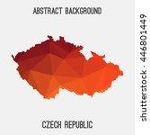 czech republic map in geometric ... | Shutterstock .eps vector #446801449