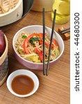 scrimp egg noodle with organic... | Shutterstock . vector #44680300