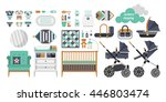 vector objects for a newborn.... | Shutterstock .eps vector #446803474