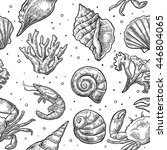 Seamless Pattern Sea Shell ...