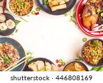 chinese food white background.... | Shutterstock . vector #446808169