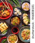assorted chinese food set.... | Shutterstock . vector #446808181