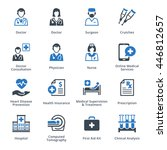 medical services icons set 4  ... | Shutterstock .eps vector #446812657
