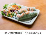 fresh spring roll  vietnamese... | Shutterstock . vector #446816431