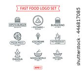 fast food logo set | Shutterstock .eps vector #446817085