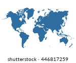 political world map.blue... | Shutterstock .eps vector #446817259