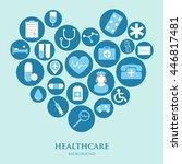 medical vector background for... | Shutterstock .eps vector #446817481