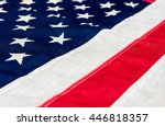 usa flag background  close up... | Shutterstock . vector #446818357