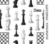 chess board. game. pattern | Shutterstock .eps vector #446821495