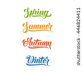 spring summer autumn winter... | Shutterstock .eps vector #446824411