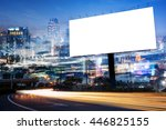 double exposure of blank... | Shutterstock . vector #446825155